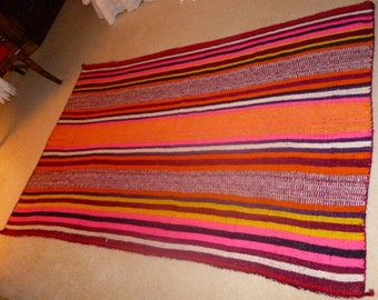 Native   South America Artisan Pure Wool Tapestry or Rug.