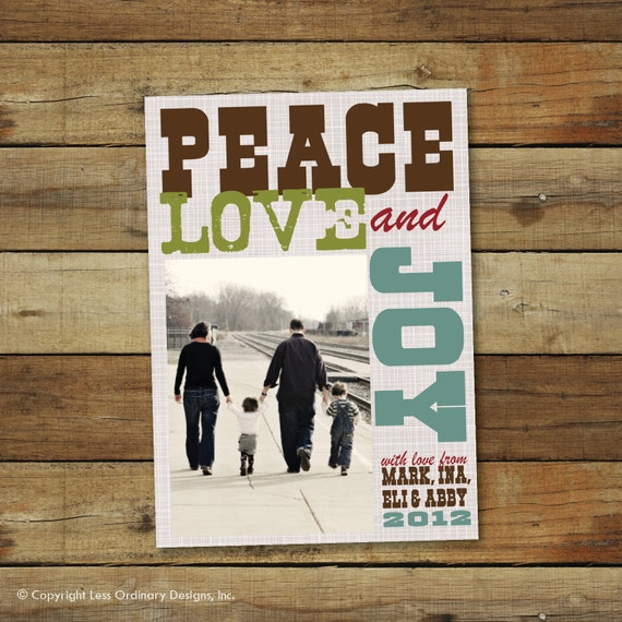 Poster Christmas card, Subway art holiday card, personalized
