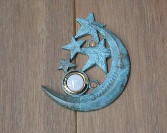 Verdigris Celestial Doorbell