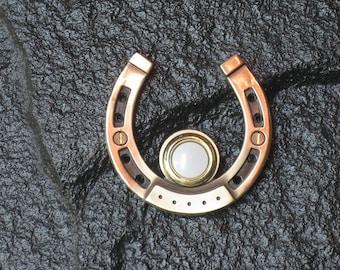 Horseshoe Doorbell in Bronze