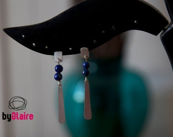 PATH / Sterling silver earrings with blue lapislazuli stones