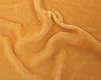 SILK Velvet fabric 28 percent silk 72 percent rayon - GOLDEN Harvest- fiber arts, art to wear, fabric collage, crazy quilt doll clothes