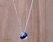 Night Sky Glass Bead Single Droplet Necklace