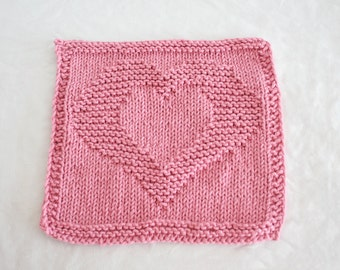 Country Pink Heart Dish cloth/wash cloth