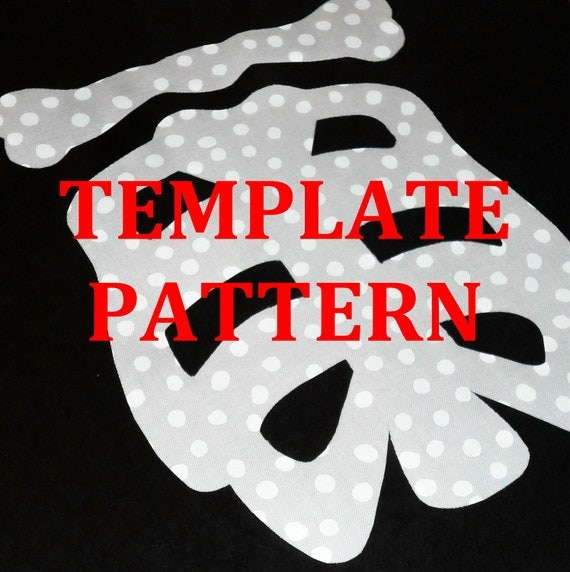 Applique Pdf TEMPLATE Pattern Only...2 Sizes...Skeleton Bones RIB CAGE...Great For Halloween...Baby Toddler Costume..New