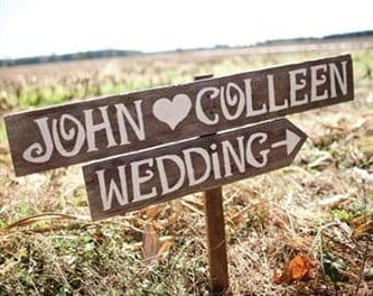 Country Wedding Signs, Rustic Outdoor Weddings, Reclaimed Wood, Road Arrow Sign, Vintage Wedding Sign, Barn Wood Wedding Decor, Reception