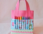Crayon Organizer Coloring Bag Crayon Bag Crayon Tote READY to SHIP ARTOTE Mini in Window to your Soul