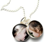 Mothers Day Personalized Picture Mom Sterling Photo Necklace, Mimi Necklace