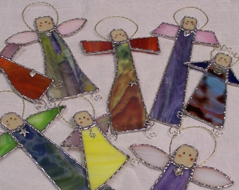 Stained Glass Angel-Angels with Attitude Suncatcher Ornament