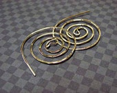 Large Twisted Spiral sterling hoop earring - Elegant and Unique - FREE shipping - Good Energy