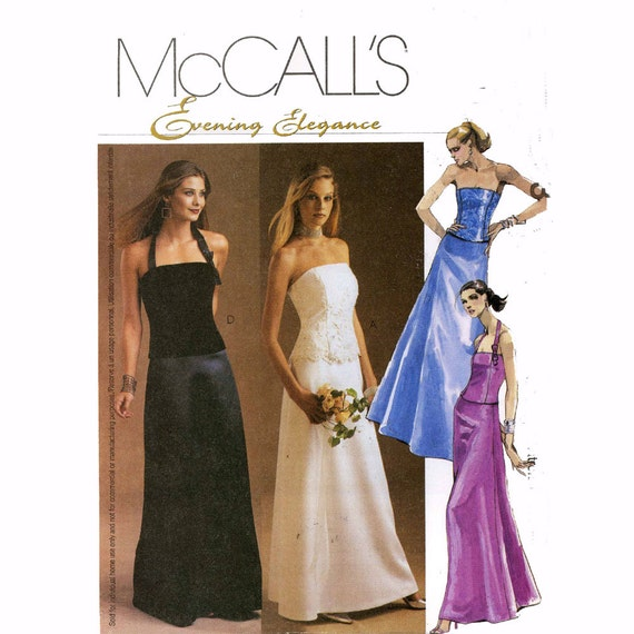 Bridesmaid lined tops and skirt sewing pattern McCalls 3683 Wedding party fashion