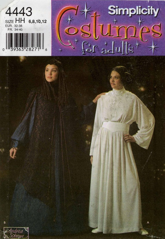 Women's Padmé and Leia costume pattern - Simplicity 4443