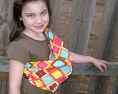 Doll Sling - Children's Toy Pouch - snuggly flannel great for imaginative play