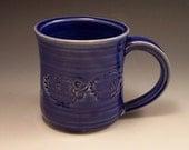 Handmade Pottery Mug in Midnight Blue