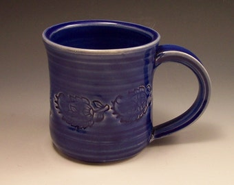 Handmade Pottery Mug in Midnight Blue