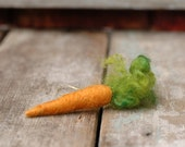 Carrot - Needle Felted Ornament