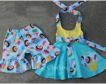 Cupcake Girl Birthday Outfit, Summer Girl Cupcake Outfit, Boutique Girl Summer Clothes, Cupcake Birthday Party