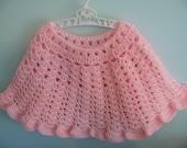 SALE - Crochet Poncho - Girls Size 2 - 3