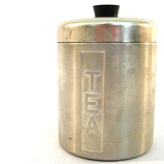 vintage Tea Tin / Made In Italy Tin / Mid Century Modern