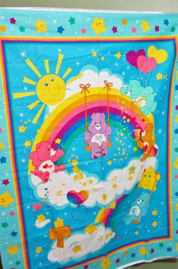 Care Bear Baby Quilt Fabric Panel 100 Cotton Unused