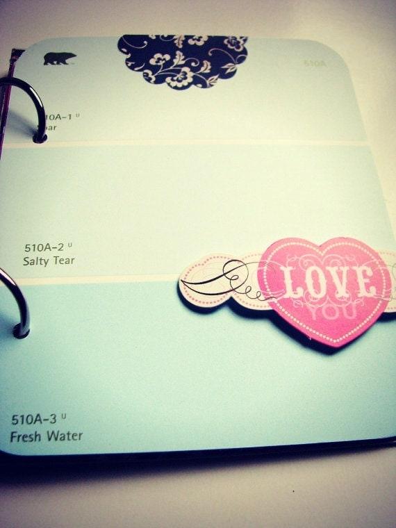 "I Love You Like a LoveSongBaby Premade Mini ""Junk"" Journal/Album/Smashbook Valentine's Day, Love Story, Us, Wedding"