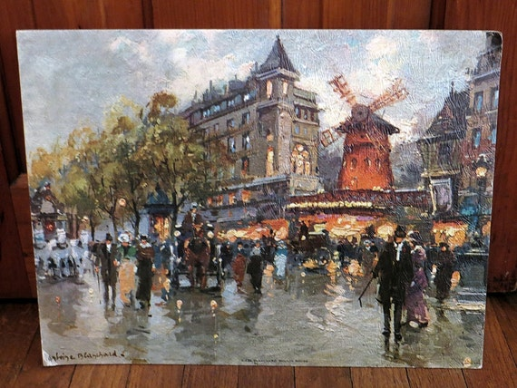 Moulin Rouge Painting by Antoine Blanchard