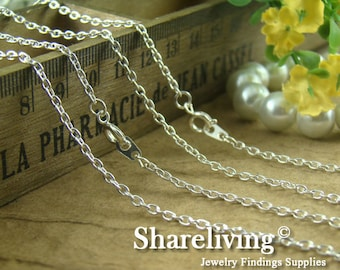 4pcs Silver / Gold Plated Finished 0 Shap Chains