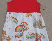 Rainbow Brite Reconstructed Tank Dress OOAK PLUS SIZE 1X 2X