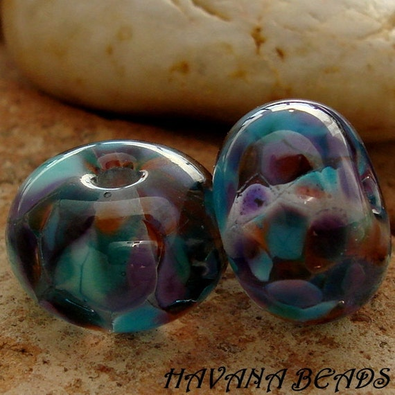 SALE - Entire Store - GYPSY SKIRT - Transparent Earring Pair - Set of 2 Handmade Lampwork Beads