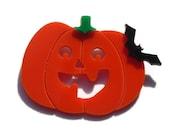 Halloween Jewelry,Pumpkin Brooch,Lasercut Acrylic