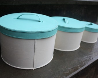 Shabby Cottage Chic Metal Canister Set