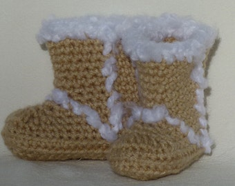 Crocheted Winter Booties Choose a size Choose a color set