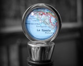CinqueTerre Wine Bottle Stopper - Vintage Map - Perfect Hostess Gift