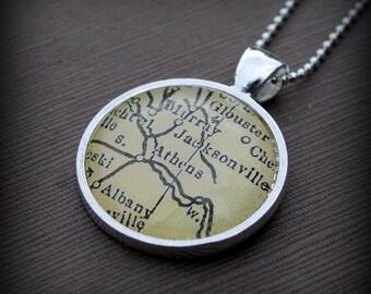 Ohio University Athens Map Necklace Pendant - Great Gift