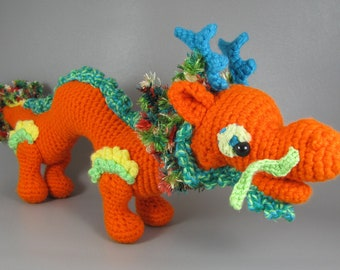 Free Knitted Crochet African Flower Pattern Dragon : Smaug the African Flower Dragon Crochet Pattern from ...