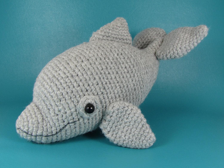 Crochet Amigurumi Dolphin Pattern : Dolphin PDF amigurumi crochet pattern