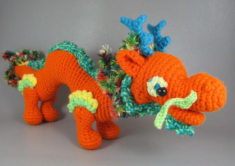 Asian Dragon PDF amigurumi crochet pattern