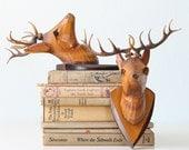 Vintage Deer Head Pair (faux, of course)