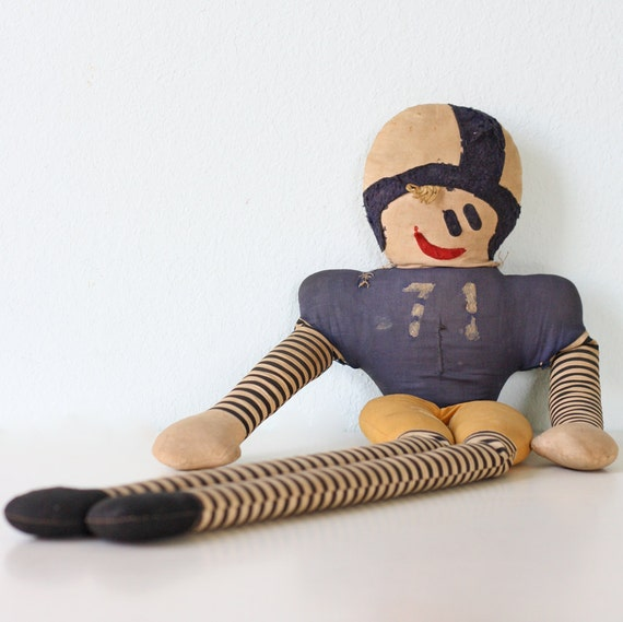 Vintage Football Player Doll
