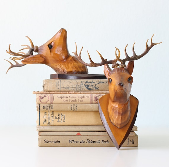 Vintage Deer Head Pair (faux, of course)