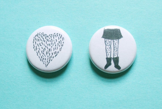 Furr Love One Inch Button Set of 2