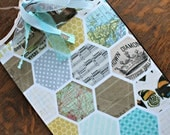 "Altered Clipboard, Small 6"" x 9"", Modern Hexigons"