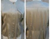 Vintage  Jacques Fath Silk Blouse in pale gold - bought in France