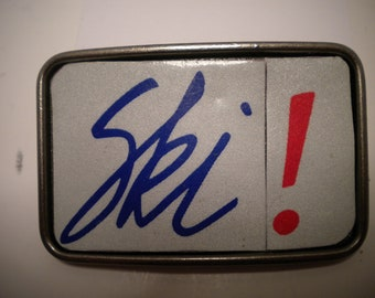 "Utah ""Ski"" License Plate Belt Buckle"