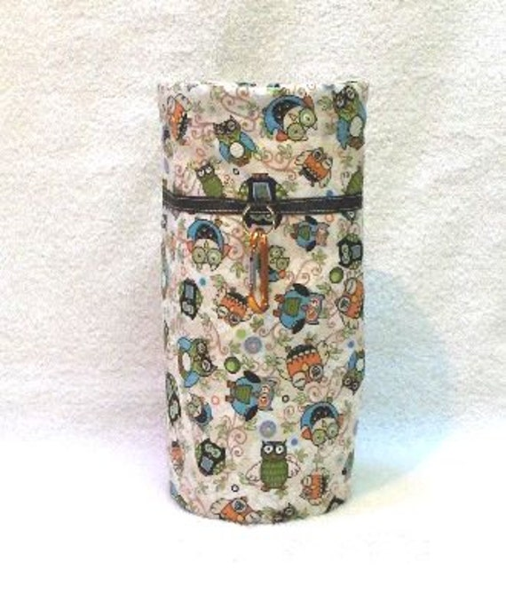 Green Owl Spindle Sack.......the only one