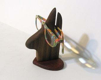 Eyeglass Holder Made Of Walnut And Padauk Wood