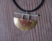 Mixed Metals Pendant Chinese Look