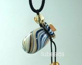 Aromatherapy Jewelry Aroma Bottle Necklace Murano Glass  Blue Gift