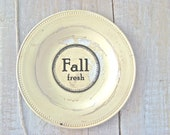 Fall Sign // Cream Weathered Wall Decor // Urban Farmhouse // Shabby Chic Home Decor // Primitive Cottage