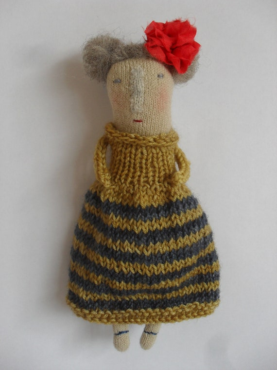Prudence - folk art doll - one of a kind